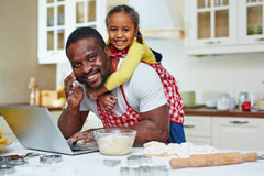 Busy father Royalty Free Stock Photos
