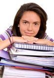 Busy female student Royalty Free Stock Photography