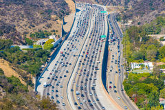 Busy freeway Royalty Free Stock Photos
