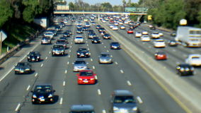 Busy Freeway - Tilt Shift. The 101 freeway in Los Angeles stock footage
