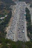 Busy Freeway Traffic in Los Angeles Stock Photos
