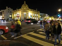 Busy Georgetown on Saturday Night in Washington DC royalty free stock photo