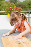 Busy girl Royalty Free Stock Photography