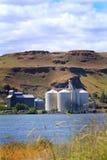 Busy Grain Elevators stock photos