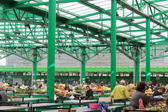 Busy green market Stock Image