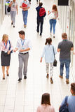 Busy Hallway In College With Students Stock Photo
