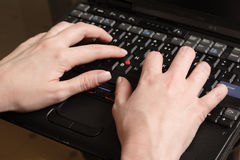 Busy hands Stock Photography