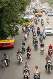 Busy Hanoi street during rush hour Royalty Free Stock Image