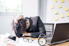 Busy and headache, businessman Royalty Free Stock Photo