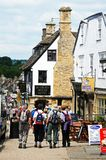 Busy High Street, Burford. Royalty Free Stock Photography
