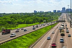 Busy highway Royalty Free Stock Photo