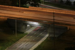 Busy Highway Overpass Royalty Free Stock Images