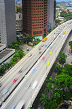 Busy highway, Singapore Royalty Free Stock Photo