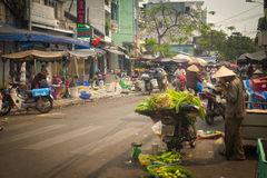 Busy Ho Chi Minh City Street, Vietnam Stock Photography