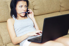 Busy at home Royalty Free Stock Image