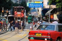 Busy Hong Kong street scene, Wan Chai Royalty Free Stock Images