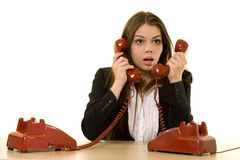 Busy hot line Royalty Free Stock Images
