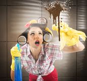 Busy housewife Stock Photography