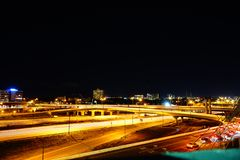 Busy highway at night. Busy I4 highway at night in Orlando Stock Photos