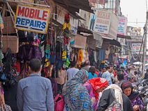 Busy Indian Bazaar Royalty Free Stock Photography