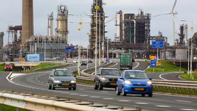 Busy Industrial Area stock footage