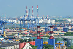 Busy Industry Park. In Jurong In Singapore Royalty Free Stock Image
