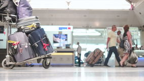 Busy International Airport stock footage