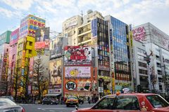 Akihabara. Busy intersection in Akihabara district of Tokyo, Japan Royalty Free Stock Photography