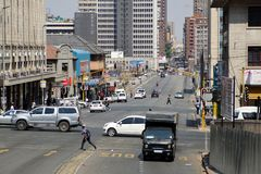 Busy intersection in downtown Johannesburg. Busy intersection in the Central Business District, Johannesburg, South Africa Stock Photography