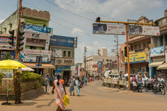 Busy intersection in Karaikudi city. Stock Photography