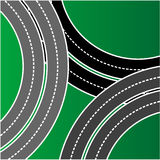 a busy intersection of roads Royalty Free Stock Photo