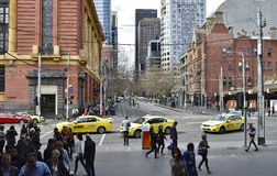 Busy Intersection at Spencer Street Station, Melbounre, Australia. Stock Images
