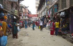 Busy Kathmandu Street Royalty Free Stock Images