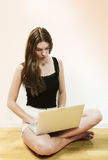 Busy on laptop Royalty Free Stock Photography