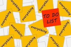 Busy life. Having a busy life with lots on the to do list Royalty Free Stock Image