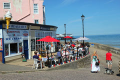 The busy lifeboat cafe. Stock Image