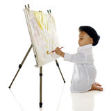 Busy Little Artist Stock Photo