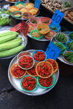 Busy little market downtown thailand. Busy downtown Bangkok market thailand Royalty Free Stock Images