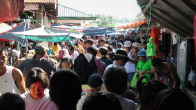 Busy local market in Philippines Royalty Free Stock Images