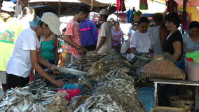 Busy local market in the Philippines Royalty Free Stock Photo