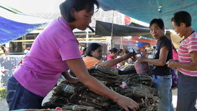Busy local market in Philippines Stock Photo