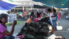 Busy local market in Philippines Royalty Free Stock Image