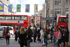 Busy London. Busy street in London, England during Olympics 2012 royalty free stock photo
