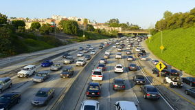 Busy Los Angeles Freeway stock video