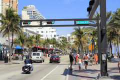Busy A1A at Las Olas Boulevard Royalty Free Stock Image
