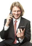 Busy Making Calls Royalty Free Stock Images