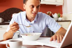 Busy man Stock Photography