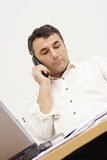 Busy man. Business man in office Royalty Free Stock Photos