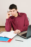Busy man Royalty Free Stock Photo
