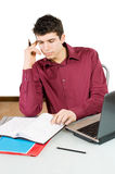Busy man Royalty Free Stock Image